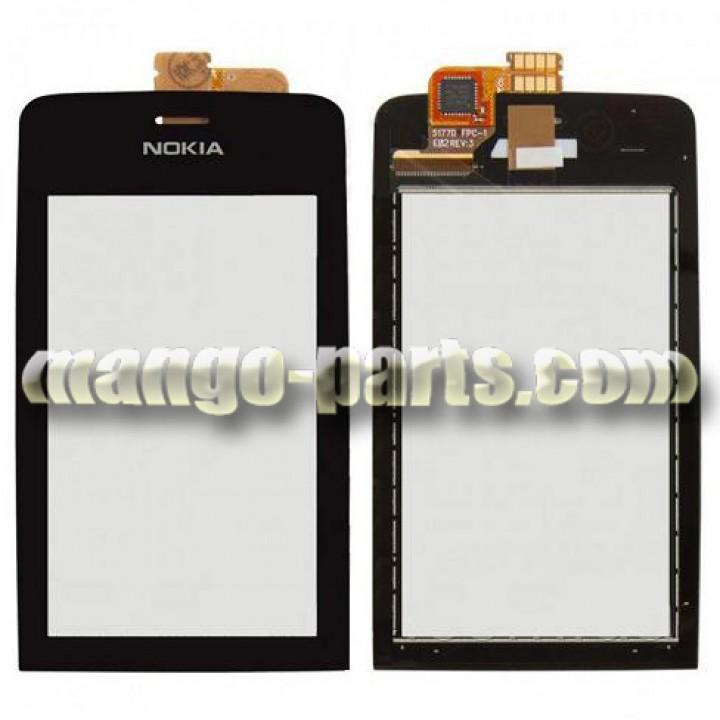 Тачскрин/Сенсор Nokia 308/309/310  Asha черный high copy (шт.)