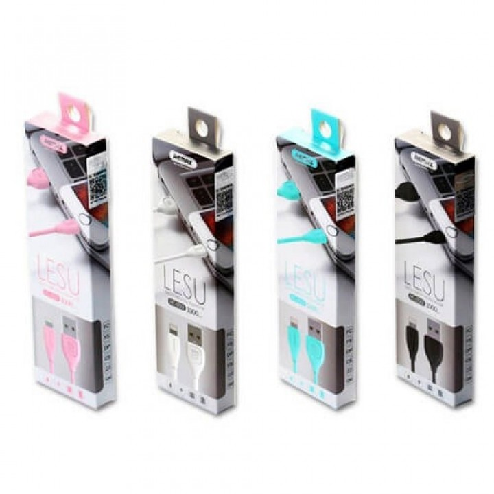 Remax USB Lightning кабель Lesu RC-050i , 1.00м pink (шт.)