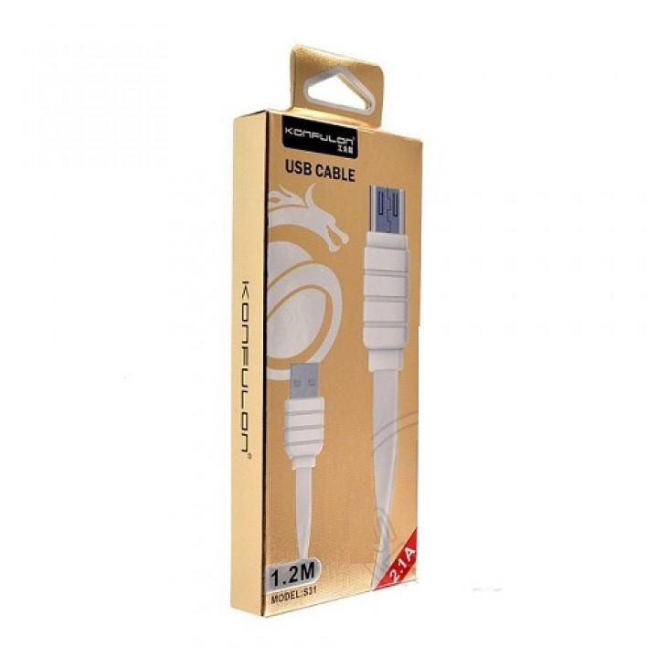 Konfulon microUSB кабель S31, 1.2m белый (шт.)
