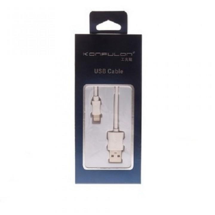 Konfulon USB Lightning кабель S92, 2.4A 1.0m черный (шт.)