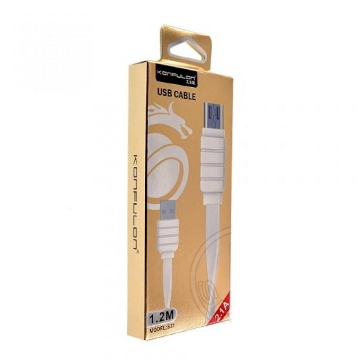 Konfulon microUSB кабель S31C, 2.0m белый (шт.)