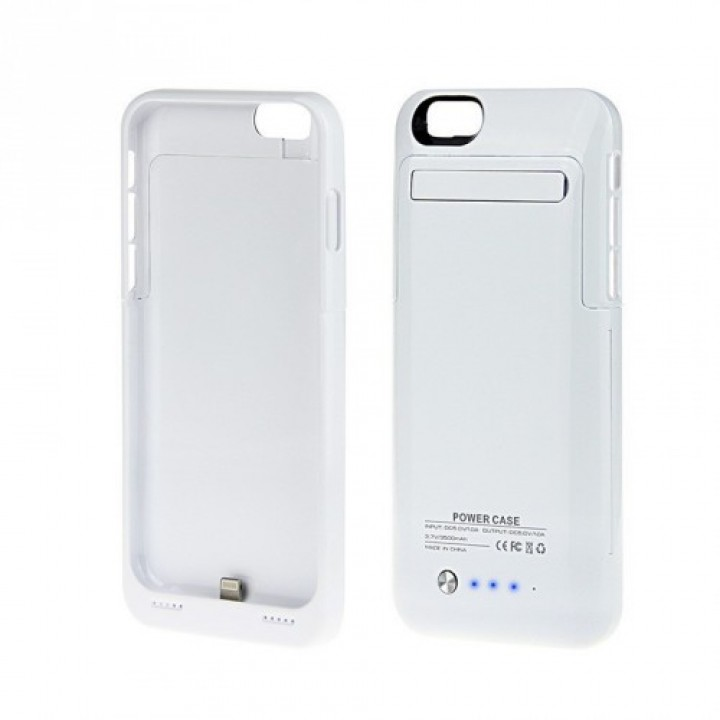 Чехол Power Case для iPhone 6/6S 4000 mAh белый (шт.)