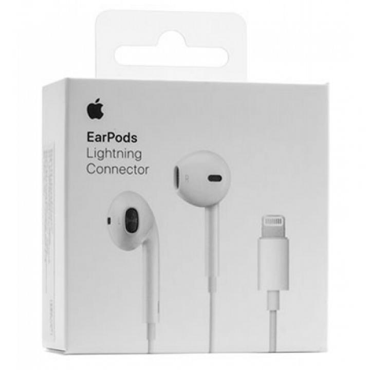 Наушники (гарнитура) HandsFree Apple Lightning EarPods IPhone 7/7 Plus, оригинал (шт.)