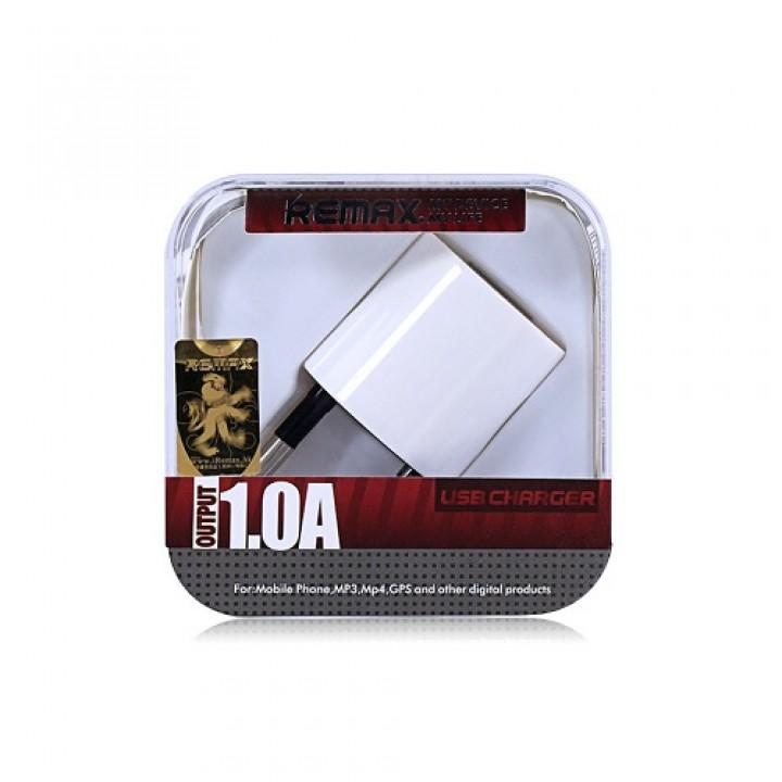 Remax ЗУ сетевое Remax U5 Cube 1.0 A 1*USB white,евровилка (шт.)