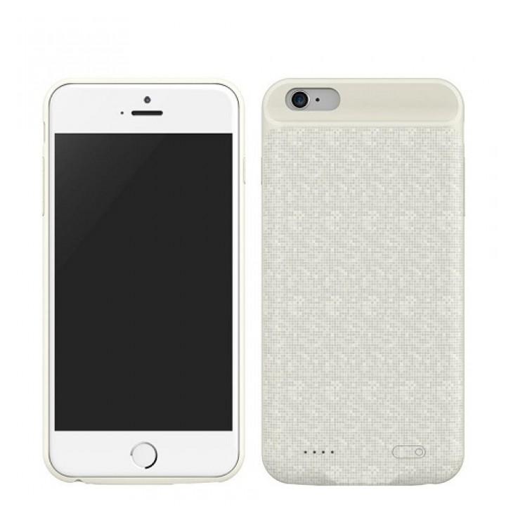 Чехол-аккумулятор для iPhone 6/6S Plus Baseus Plaid Backpack Power Bank Case, 3650mAh белый (шт.)