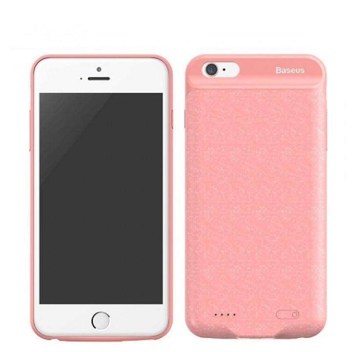 Чехол-аккумулятор для iPhone 6/6S Plus Baseus Plaid Backpack Power Bank Case, 7300mAh розовый (шт.)