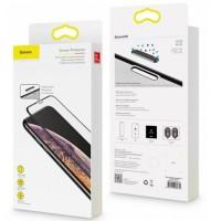Защитное стекло Baseus 0.3mm Full-screen&Full-glass (2pcs pack+Pasting ArBlack) iPX/XS/11 PRO Black