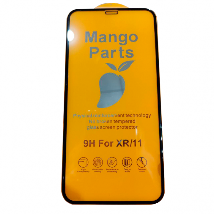 Защитное стекло Mango Parts для iPhone XR/11 20D черное