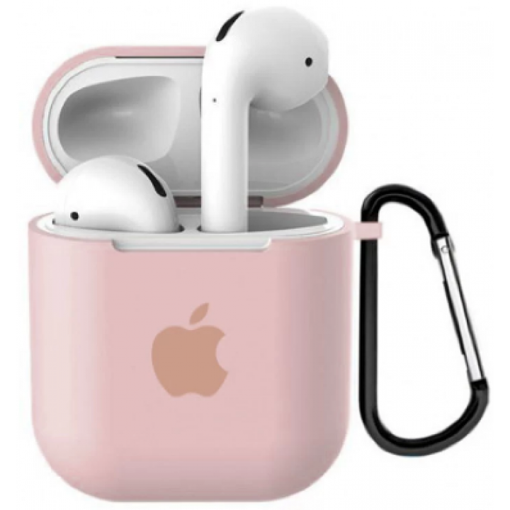Чехол Silicone Case for AirPods 2 (with carabine) Pink Sand