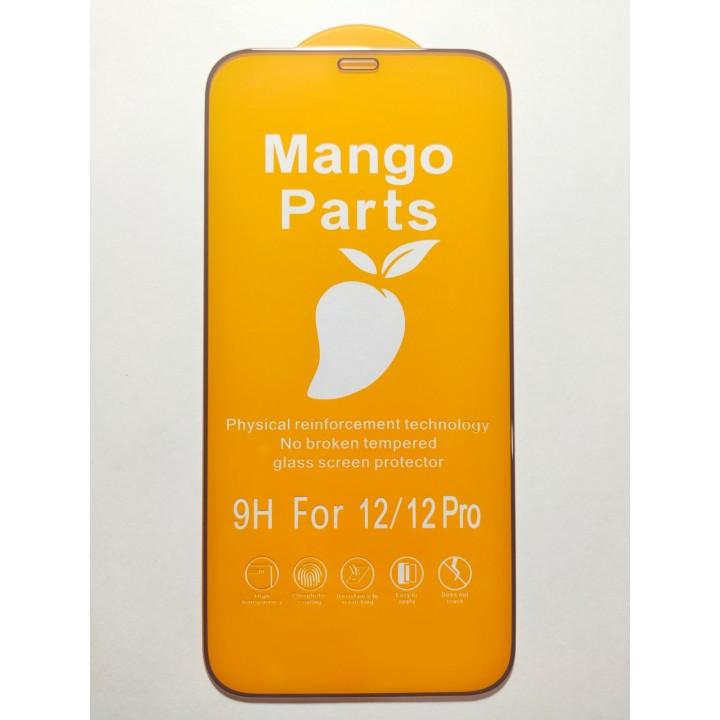 Защитное стекло Mango Parts для iPhone 12/12 Pro 6.1' черное