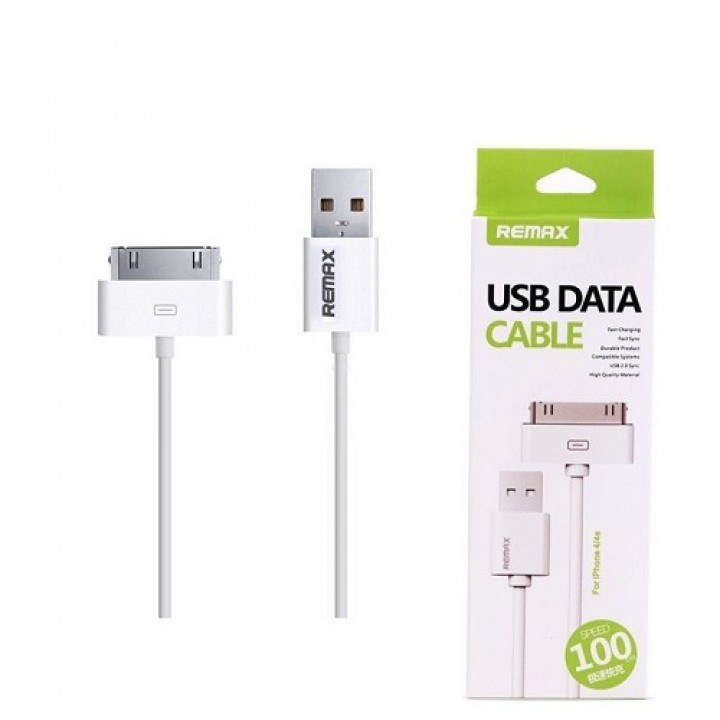 Remax USB iPhone 4/iPod/iPad кабель Classic Fast Charging , 1м белый (шт.)