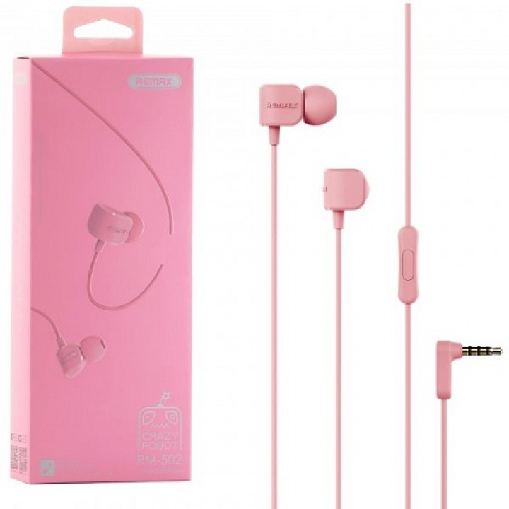 Наушники Remax RM-502 Pink (шт.)