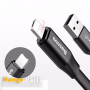 Baseus Two-in-one Portable Cable (Android/iOS) 1.2M Black