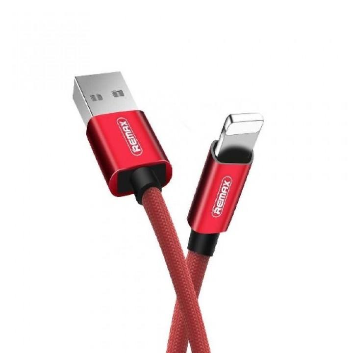Remax USB Lightning кабель Fabric RC-091i, 1m red (шт.)
