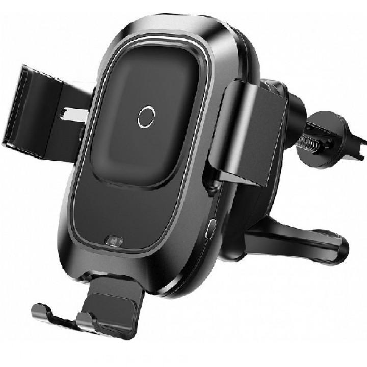 Автодержатель с беспроводной зарядкой Baseus Smart Vehicle Bracket Wireless Charger Black (шт.)