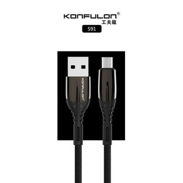 Konfulon microUSB кабель S91, 2.4A 1.0m черный (шт.)