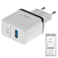 Konfulon ЗУ сетевое C32Q Quick charge 3.0 2,1 A 1*USB (EU) белый (шт.)
