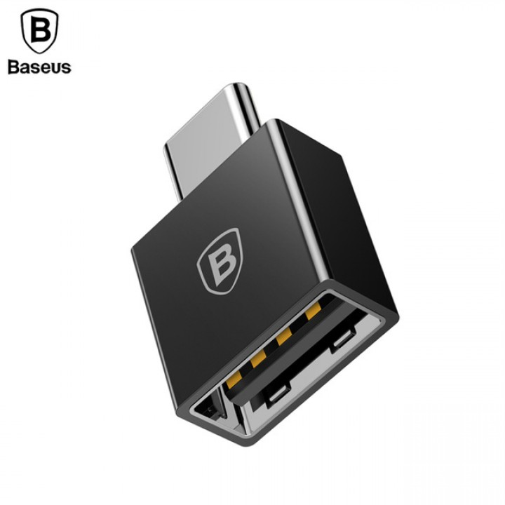 Переходник Baseus Exquisite Type-C Male to USB Female Adapter Converter Black (шт.)
