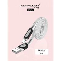 Konfulon microUSB кабель DC01, 2.4A 1.0m белый (шт.)