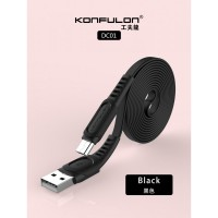 Konfulon microUSB кабель DC01, 2.4A 1.0m черный (шт.)