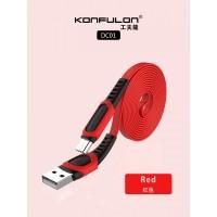 Konfulon microUSB кабель DC01, 2.4A 1.0m красный (шт.)