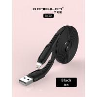 Konfulon USB Lightning кабель DC02, 2.4A 1.0m черный (шт.)