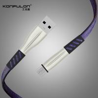 Konfulon microUSB кабель S88, 2.4A 1.0m синий (шт.)