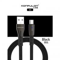 Konfulon microUSB кабель S85, 2.1A 1.0m черный (шт.)