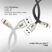Konfulon USB Lightning кабель S54, 3A 1.0m черный (шт.)