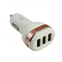 Konfulon ЗУ автомобильное C28A 3A 3*USB белый