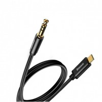 Baseus Yiven кабель Type-C to 3.5 male Audio Cable M01 Silver+Black